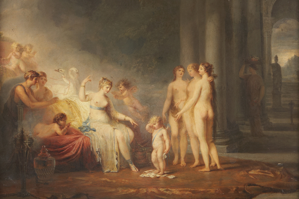 "François Gerard   ""Venus with the three Graces"" , circa 1780  private collection"