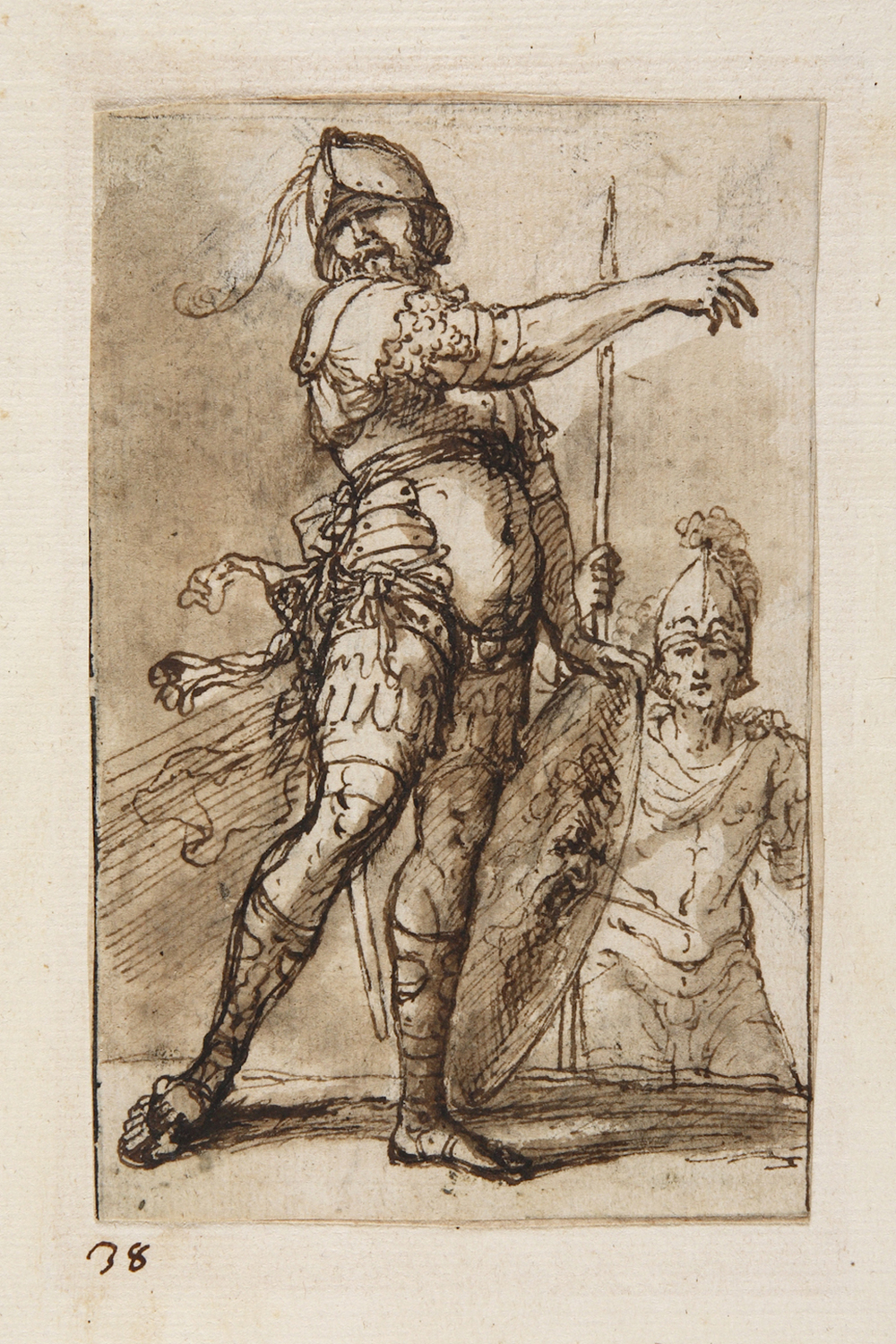"Salvator Rosa   ""Drawings""  , 17th century  private collection"