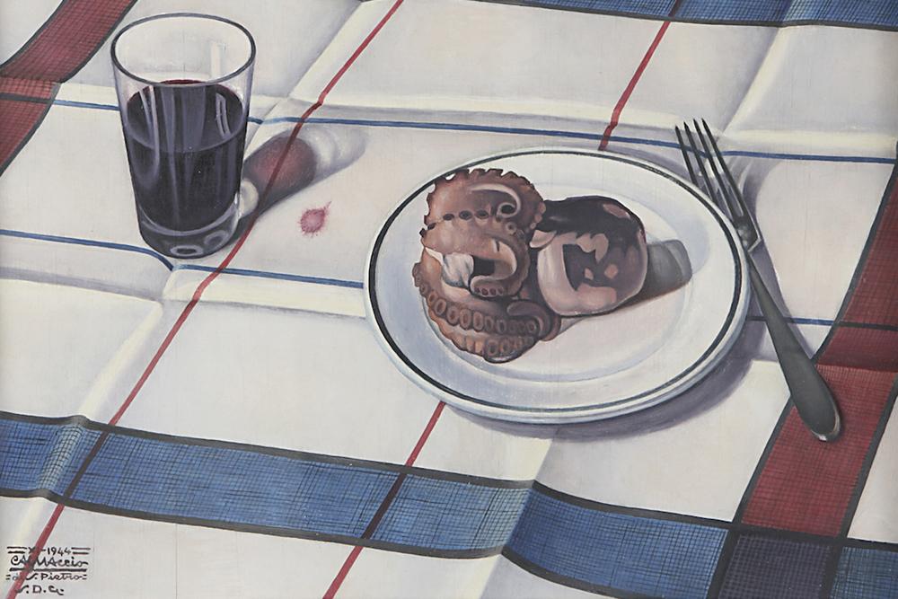 """Cagnaccio di San Pietro  """"Still life"""" , 1944  Diego Gomiero Art Gallery , Milan - Padua"""