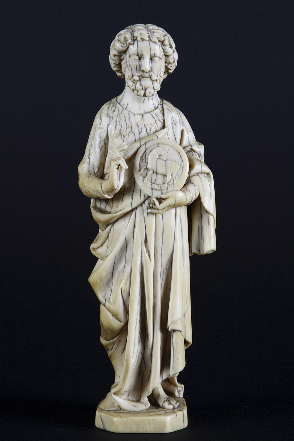 "Anonymous   ""Ivory Sainth"" , 18th century  Scultura Italiana Gallery, Milan"
