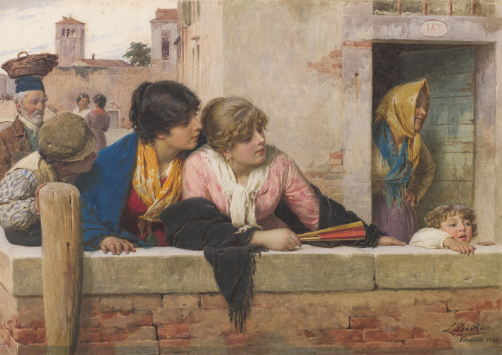 "Luigi Da Rios  ""Le curiose"", 1886   Da Rios Family collection"