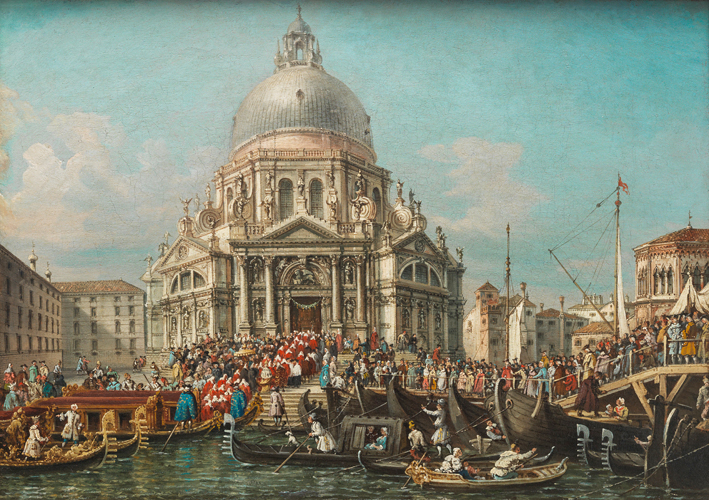 "Francesco Zanin  ""Venice, the Feast of the Madonna della Salute"" , circa 1878   private collection"
