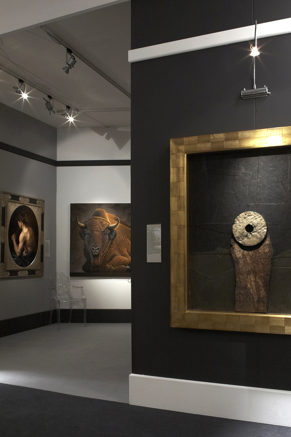 "Modern stand for the international exhibition    ""Collezioni d' Arte"", 2010  Museo Della Permanente, Milan"