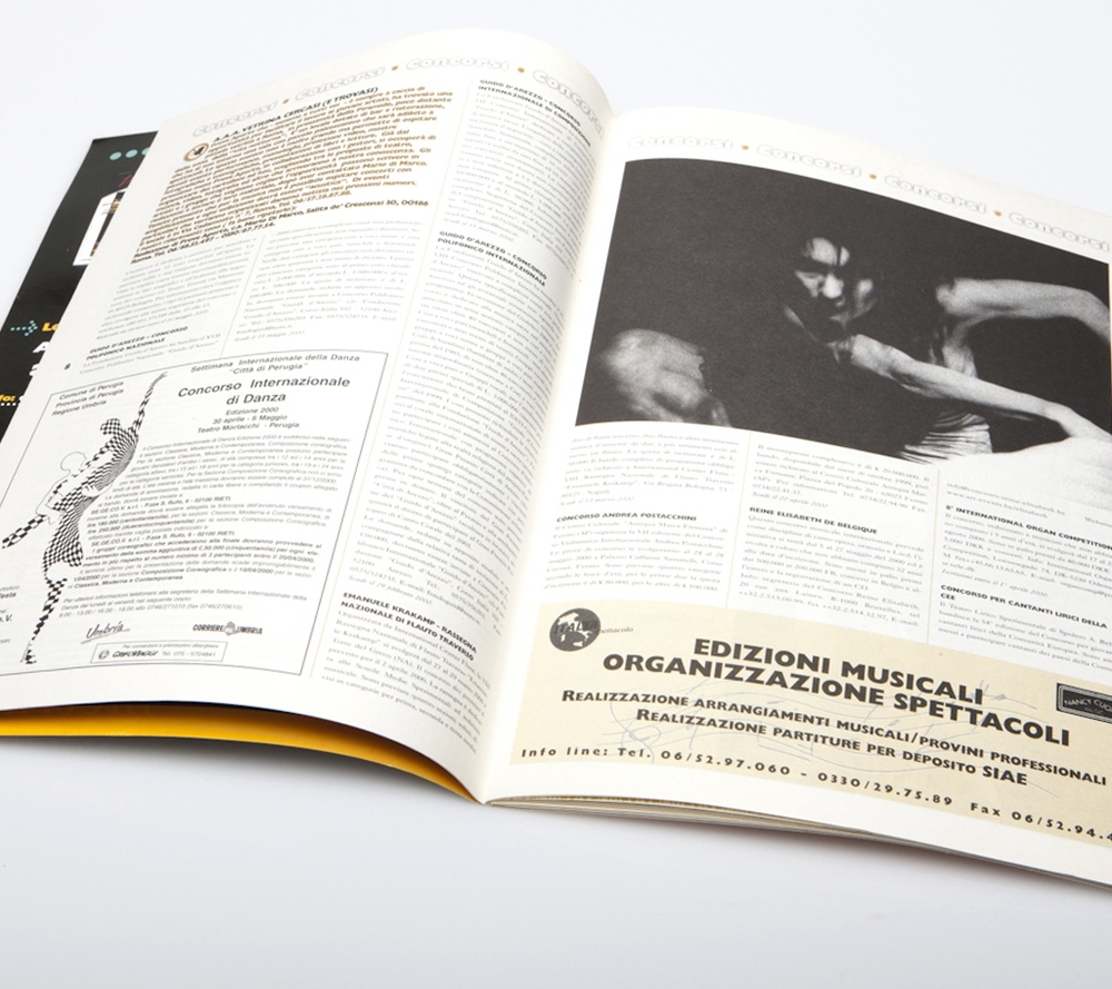 Editorial  Prove Aperte Magazine, Idee di Velluto Editions, Rome 1998