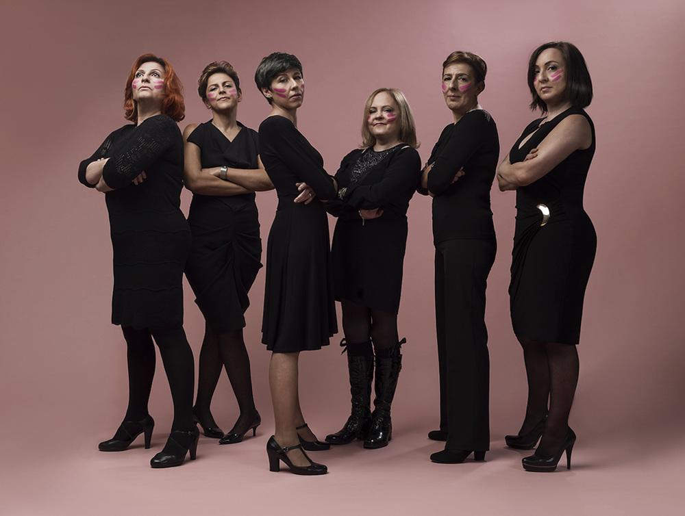 Francesca Balena, Barbara Bragato, Tiziana Moriconi, Sabrina Franci, Ivana Policiti, Mimma Panaccione   lottare,vivere,sorridere
