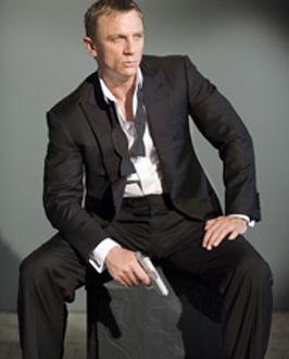 Daniel Craig as James Bond wearing a Bow Tie