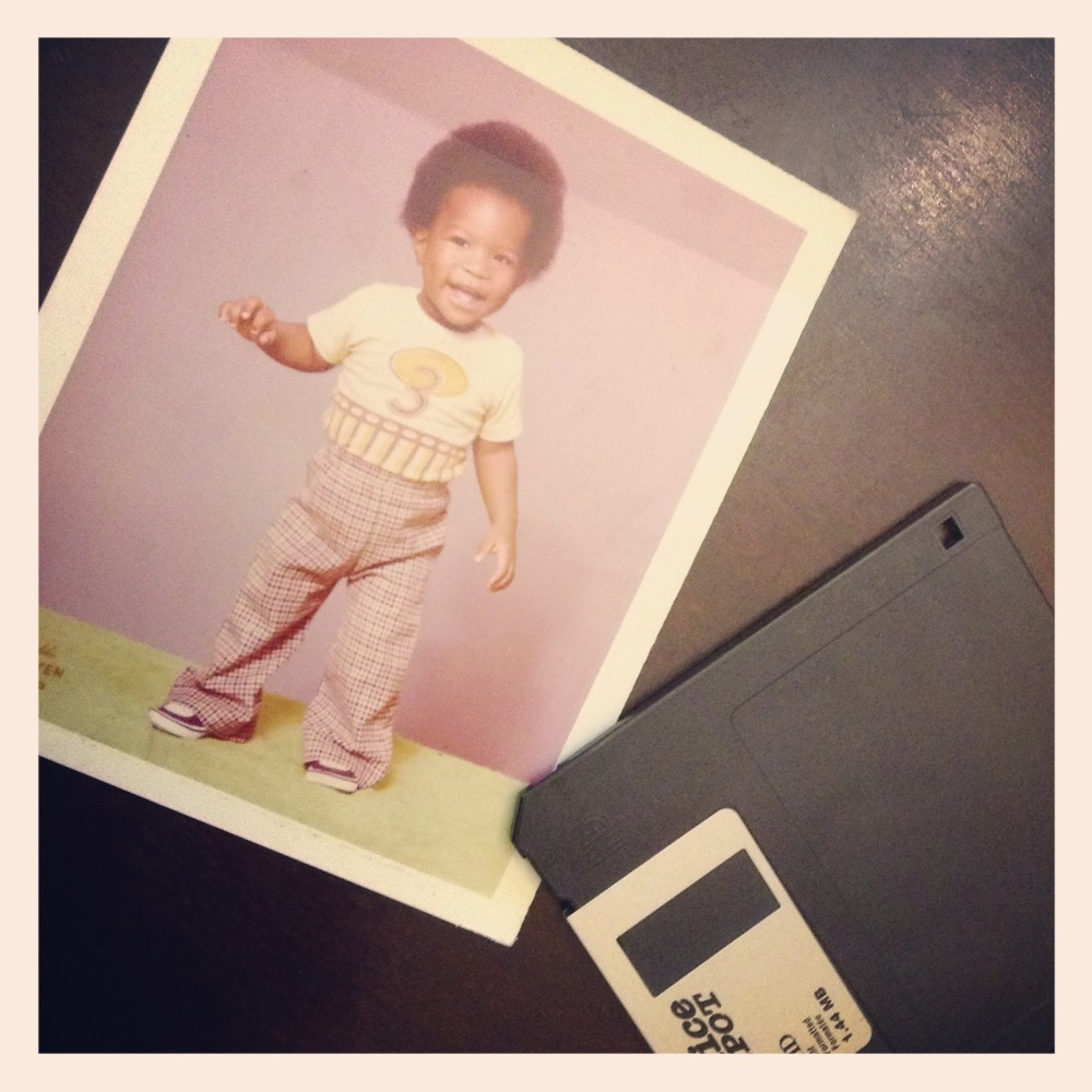 Me Circa 1980. Photo by Doyen. Kingston Jamaica. Floppy Disk Circa 2002. Remember when 1.44MB was a lot of memory? When the average photo on my phone camera is about 2.8MB. Can we say #Obsolete?