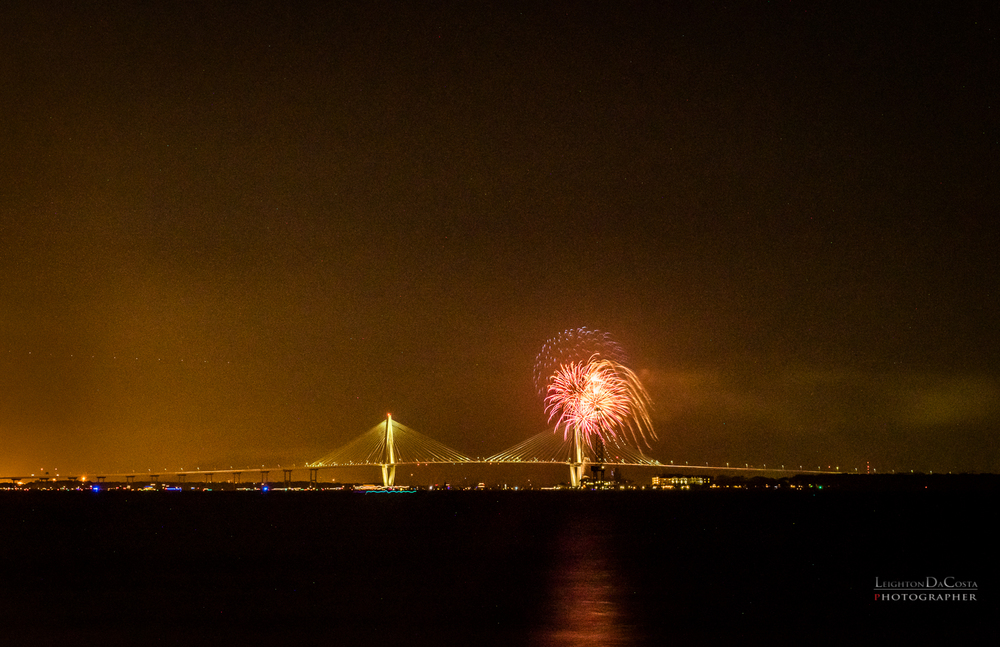 Charleston Harbor July 4, 2016. This is a 17 frame HDR Merge done in Adobe Lightroom.