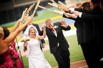 baseball-wedding-exit-with-mini-bats.jpg