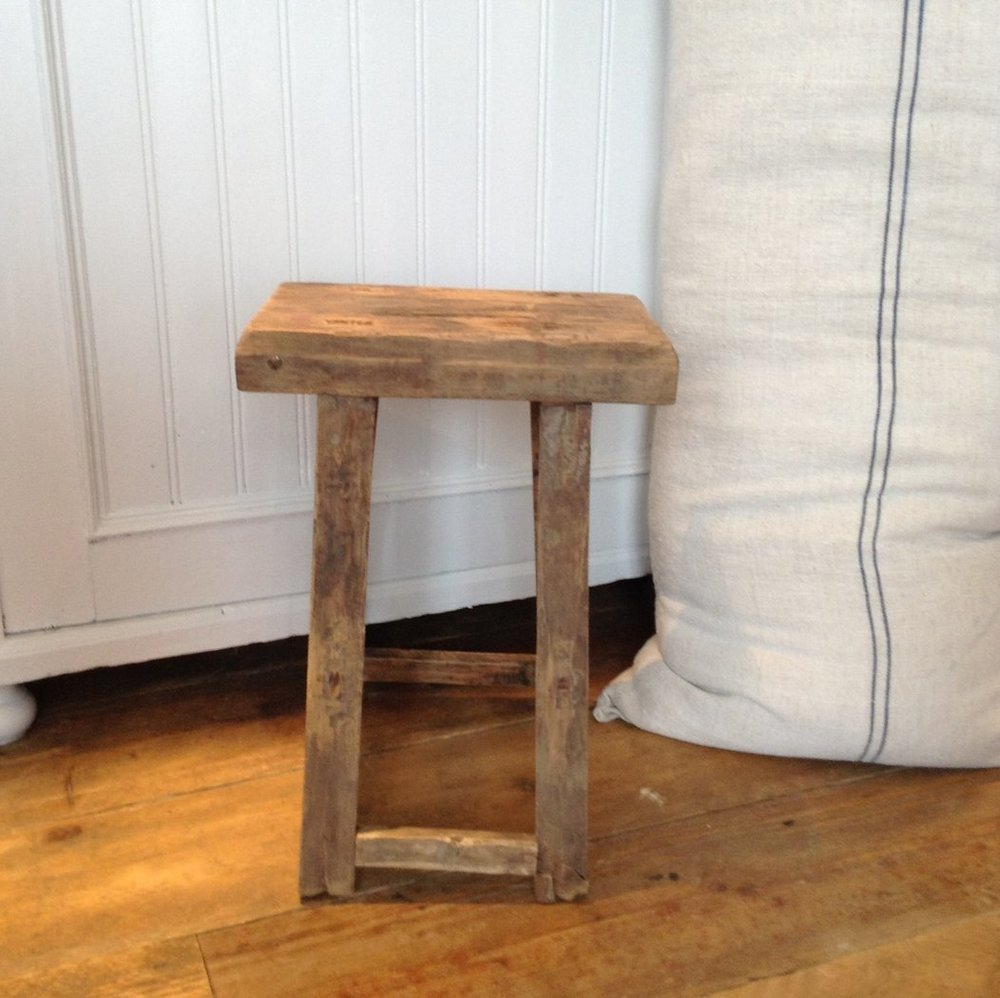 For a vintage wooden stool try Design Vintage. This one is £65