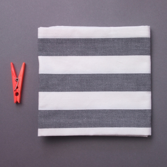 No detail is too small: grey and white striped tea towel for £6 from Future and Found
