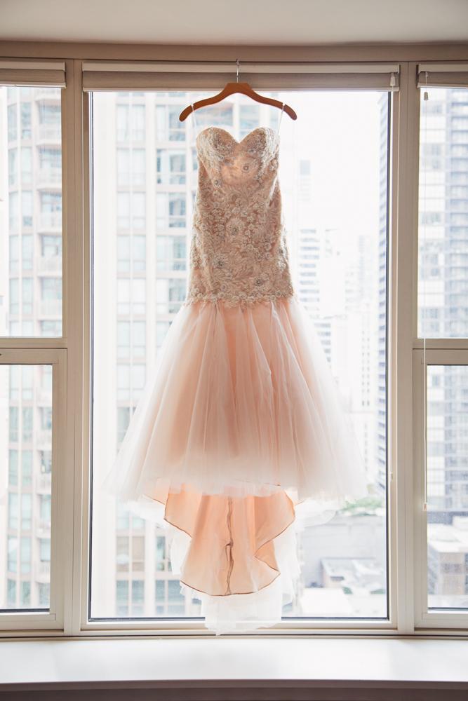 Abbey's amazing blush dress