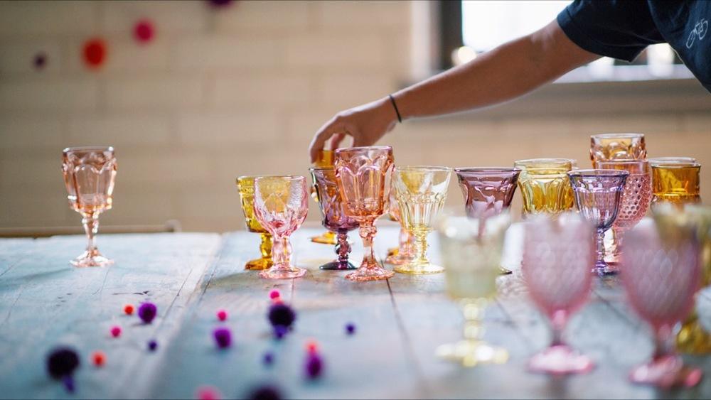 pastel goblets photo by Kelly Allison