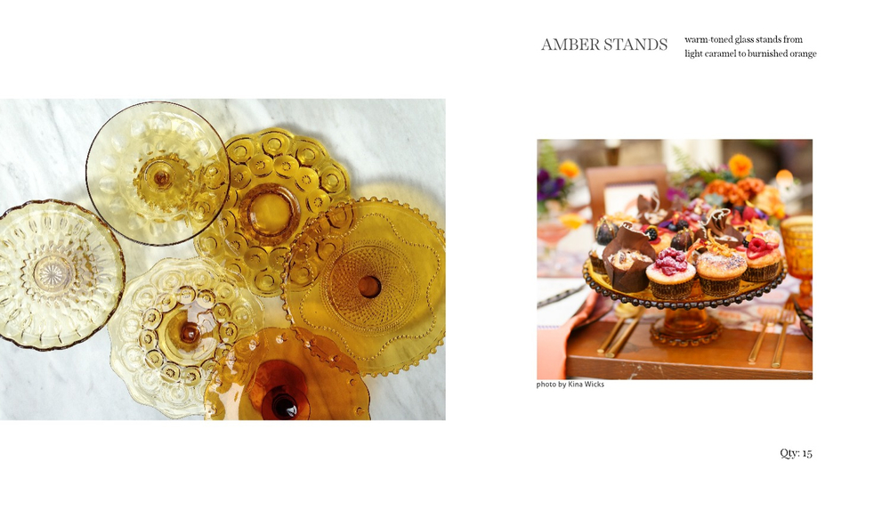 amber cake stands