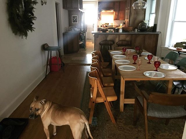 Getting ready for dinner. Merry Christmas, all. Feeling extra lucky this year, and that's not a brag. It is straight up luck. I've never felt more resolved that every person deserves to be treated with the full respect of their humanity no matter who, how, where they were born and who they are today.