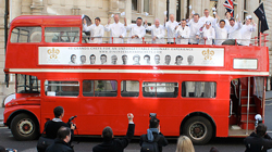 Open top Routemaster for tours, promotions, proms and race days.