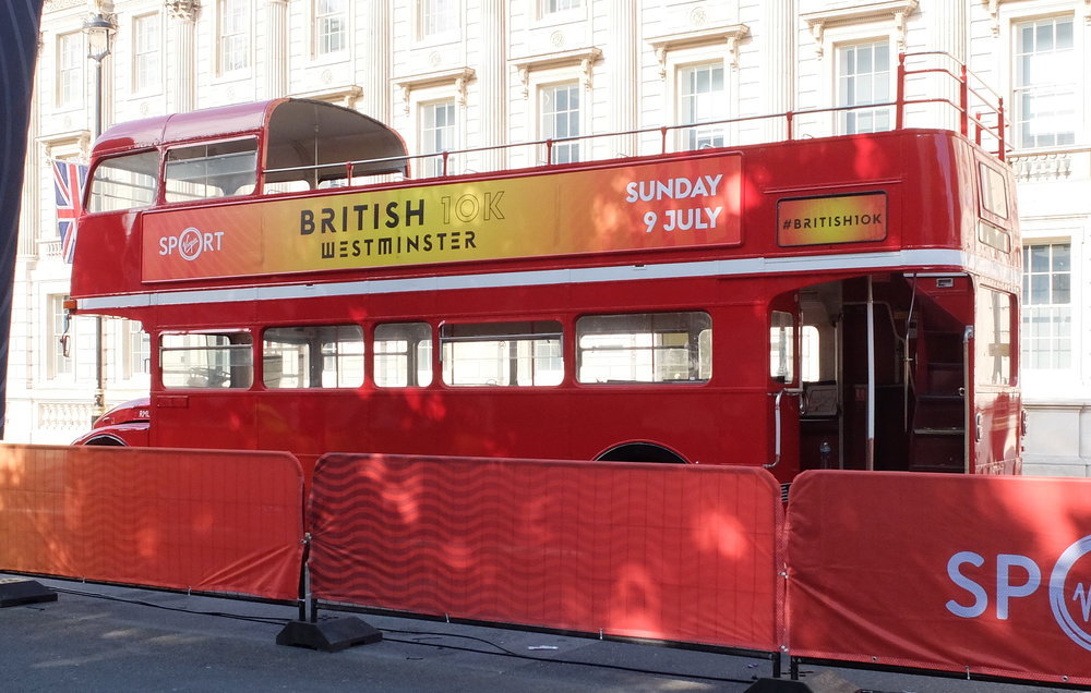 Business Hire & Hospitality - The Routemaster bus is perfect to transport your staff, guests or clients.We also offer branding options from personalised destination blinds to full length ad banners.