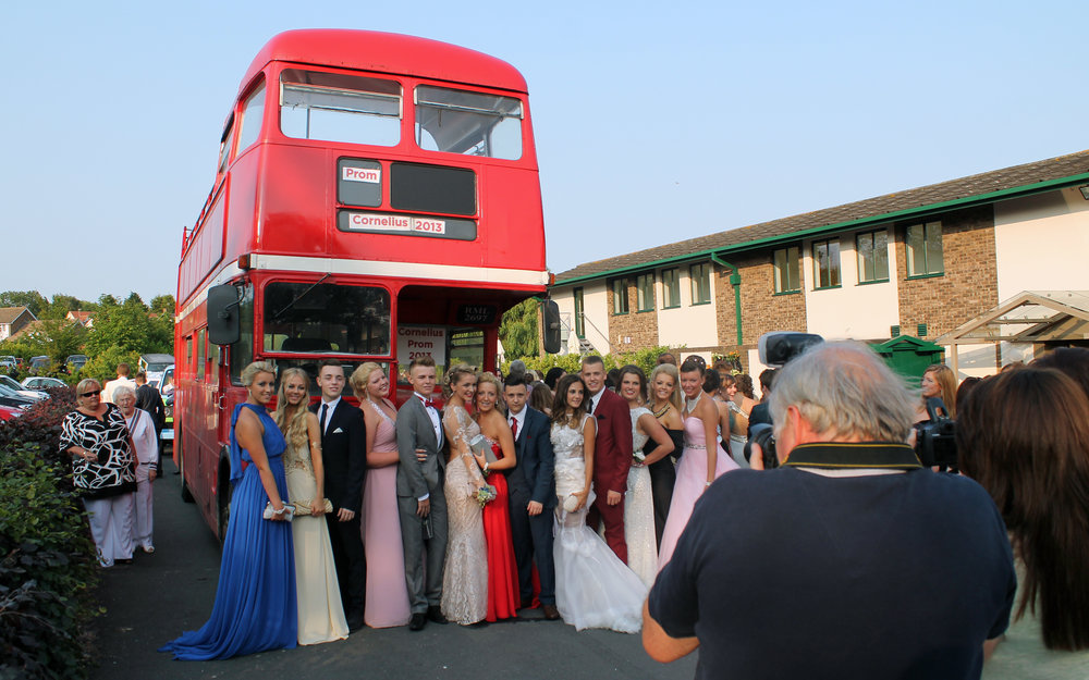 Buses for Prom - Get the party started early and arrive in style. All our buses have on board music systems. Spend more time together.