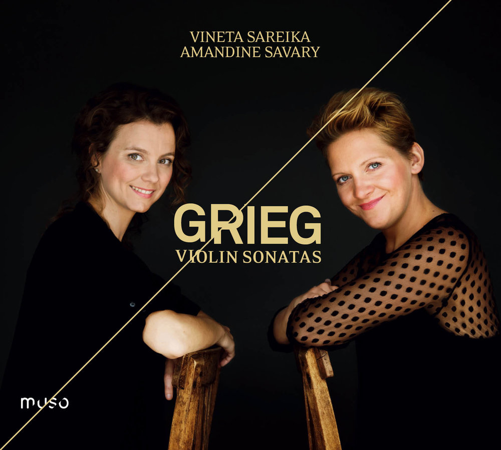 MU-024 Grieg, Violin Sonatas (V. Sareika - A. Savary) - Cover.jpg