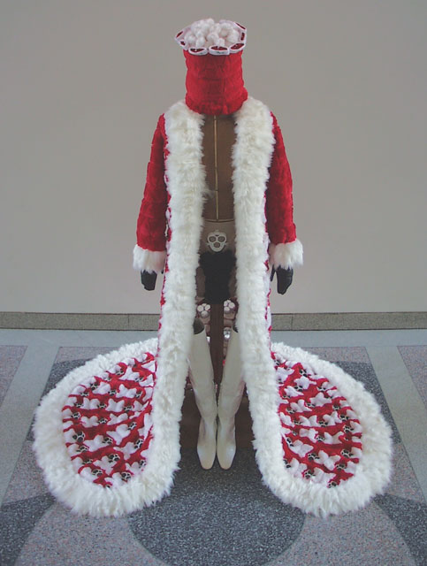 Dead Pelt    (2002) Santa costume fashioned from the pelts of 400 Limited Edition Christmas Furbies used in the creation of   Reflection Loop    (2001)