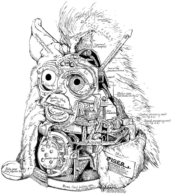 detail from   The Anatomy of the Furby    (2000) ink on paper