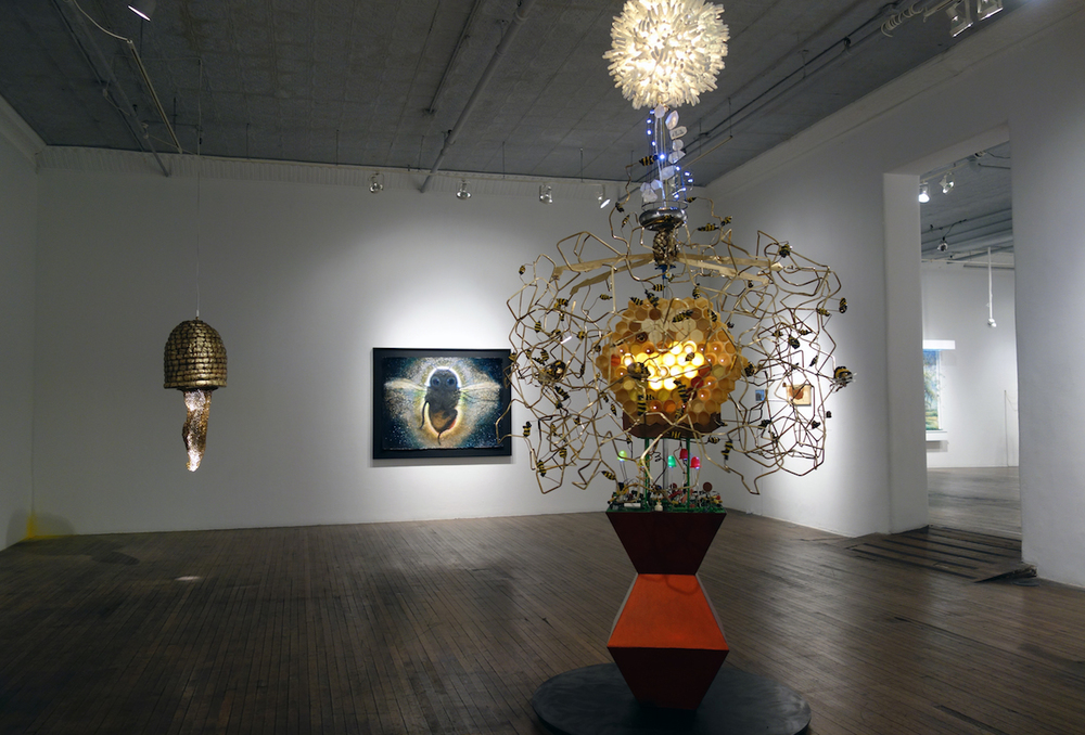 Thanks Allison Meier for the great review in  hyperallergic.com, October 19, 2015 . Image: View of  Pollination at Ronald Feldman Fine Arts , September 12 - October 24, 2015