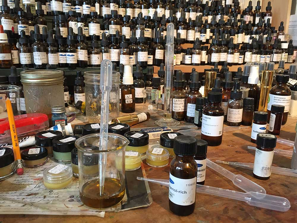 A typical view of my perfume bench during development