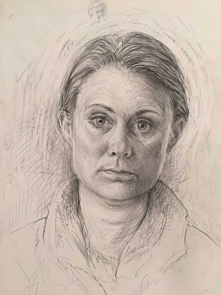 Self Portrait, 2017. Graphite on paper
