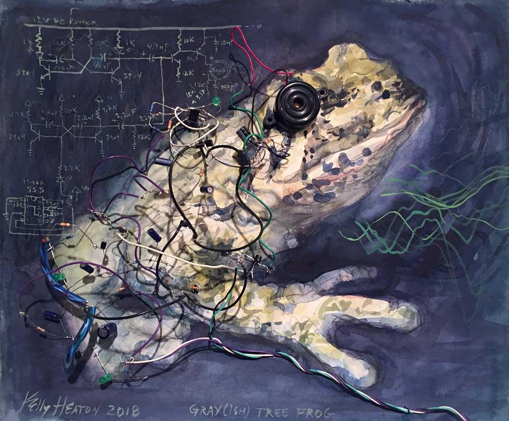 Kelly Heaton artist electronic painting