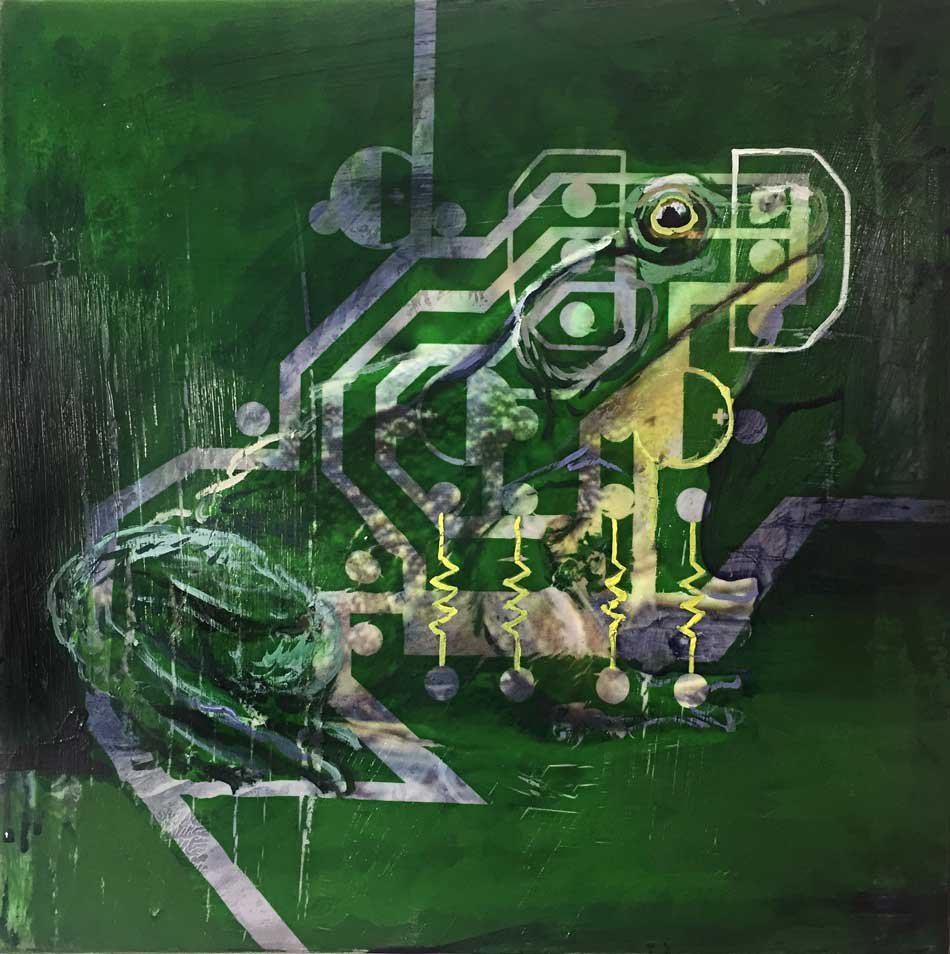 Kelly Heaton circuit PCB frog