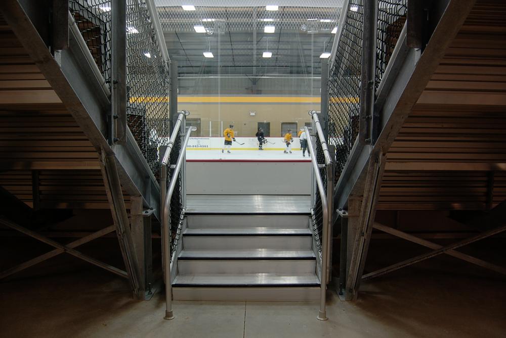Practice, Arrington Ice Arena, Adrian College, 2007.