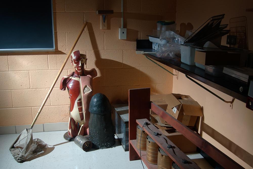 Mannequin, Peelle Hall, Adrian College, 2007.