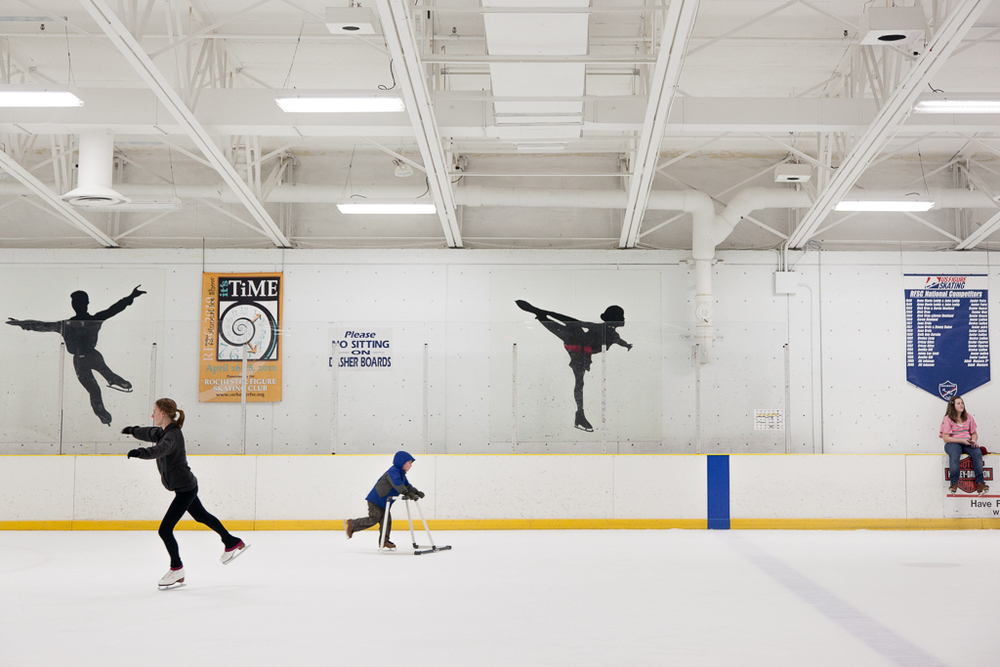 "Learning to skate. Archival Inkjet Print. 17"" x 22"". 2012."