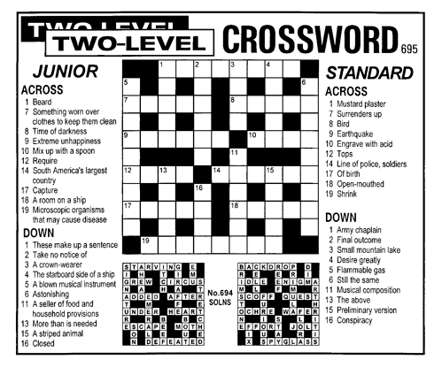 Two-Level Crossword  sc 1 st  Knight Features & 008_Crosswords u2014 Knight Features | Content Worth Sharing 25forcollege.com