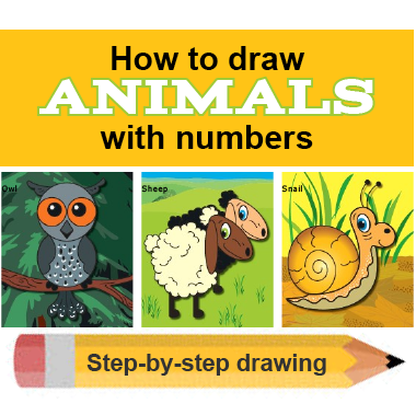 How To Draw Animals With Numbers Knight Features Content Worth