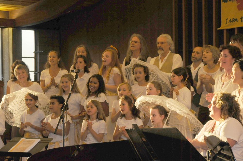 Bija Adult Vocal Ensemble singing with the Bija Children's Choir at Harvest Concert 2009