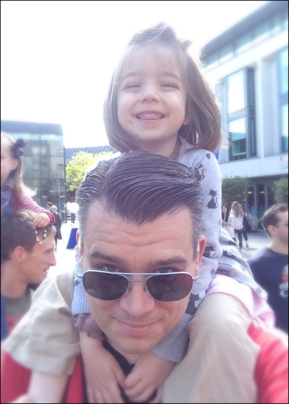 My daughter and I at the Children's parade Brighton, 2014.