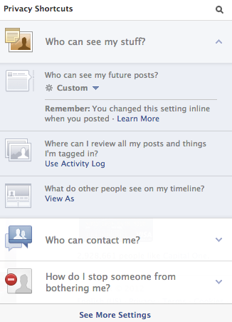 Updated Facebook Privacy Controls