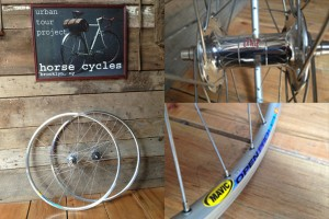 Horse Cycles is getting ready for spring and giving away an amazing PHILWOOD WHEELSET to help you down the road. Follow us on instagram, twitter or sign up for our mailing list. Spread the word to your friends and give them a crack at this groovy giveaway. 32 hole, high flange sealed bearing single speed polished PHILWOOD HUBS laced to MAVIC open pro rims. Rear spacing 130mm front 100mm. Retail on the wheelset is $745.00    Enter to win!