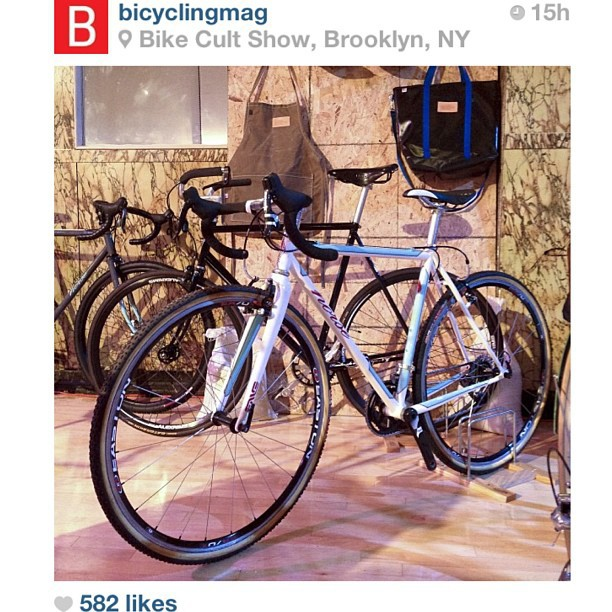 Bicycling mag shout!  Thanks @mervling !  You da best!  #bikecultshow #urbantourproject @abbey__normal @joshratnerd
