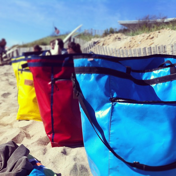 Three of a kind.  h o r s e beach tote.  Made in collaboration with Rob at MER bags.  (at Ditch Planes, Long Island, NY)