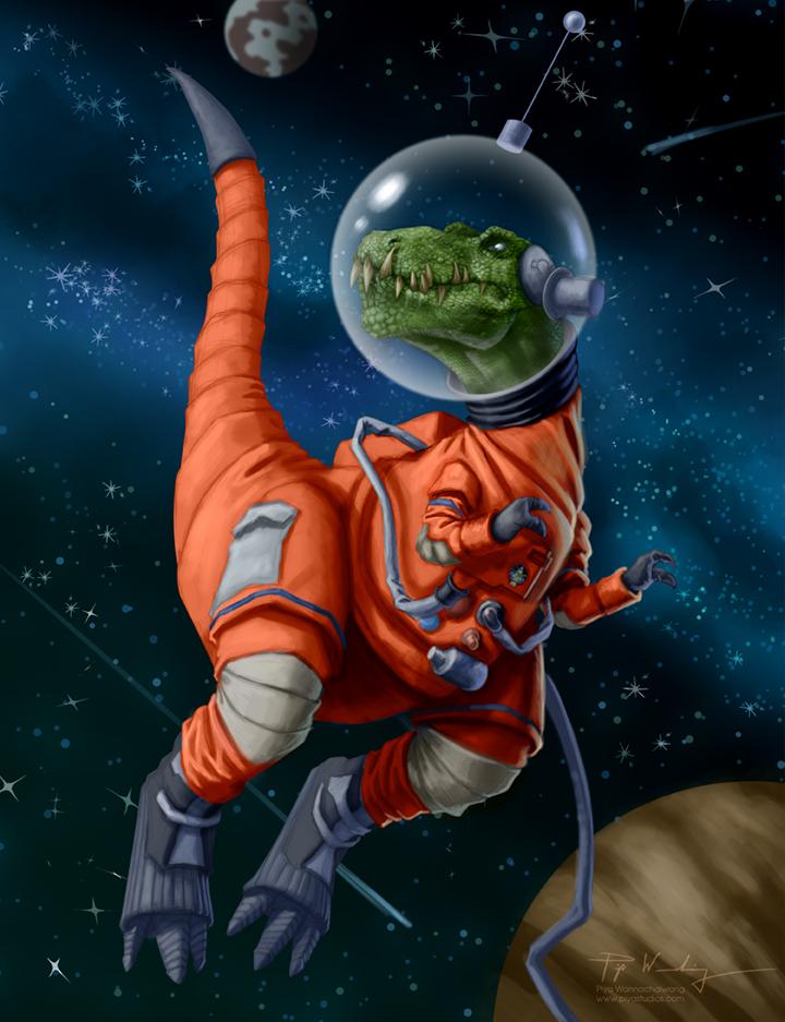 Tyrannosaurus Astronaut