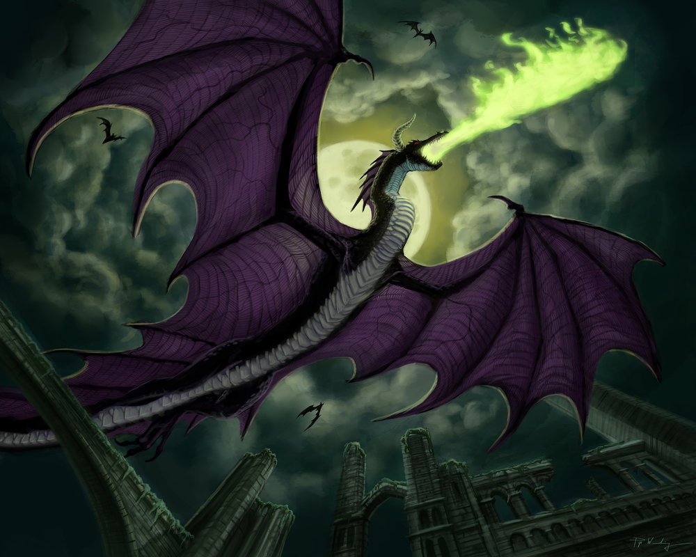 Digital  For Llewellyn's 2020 Dragon Calendar.