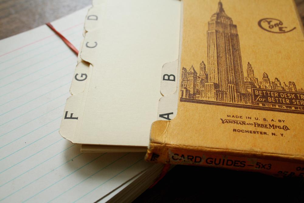 Old Index Cards