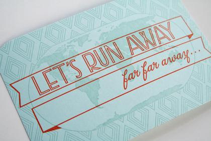 Let's Runaway Postcard