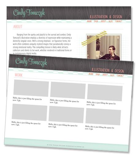 illustration website in progress