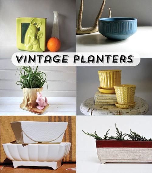 Vintage Planters on Etsy