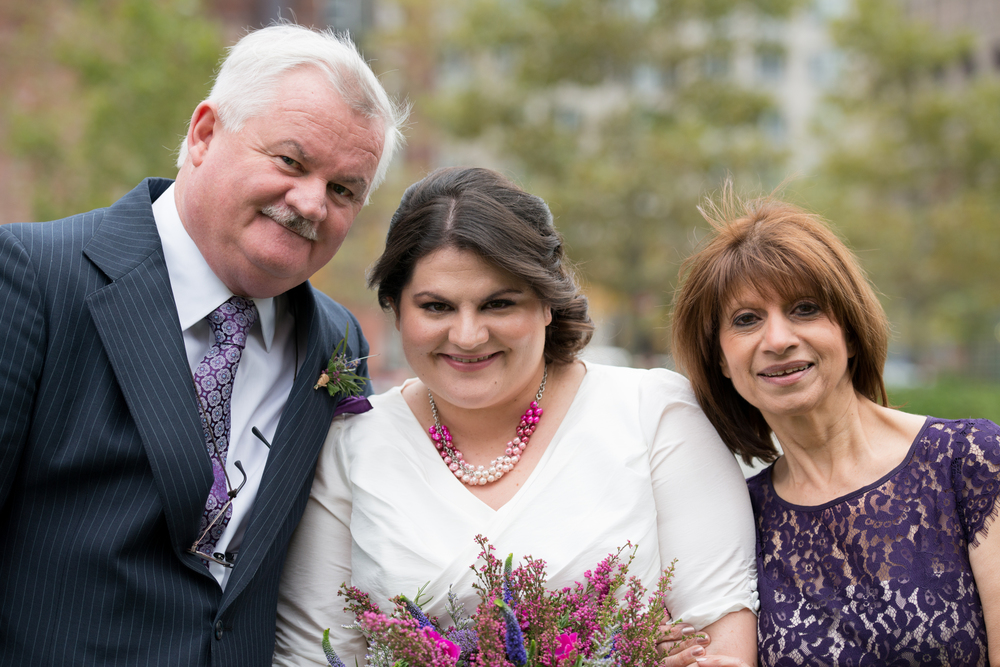 My parents & I on my wedding day (2013)