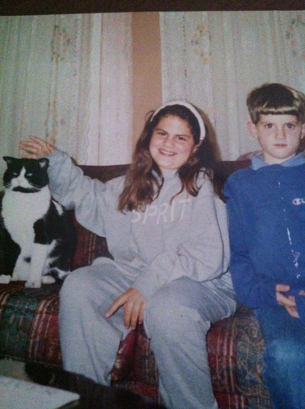 Average-sized kid with my brother & first love -- my cat Larry! (age 11)