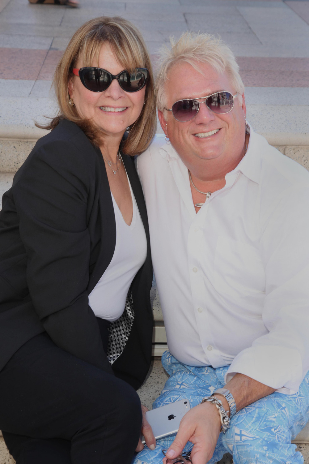Stephen Lewis, Designer and Debbie Estapa, Brand Ambassador, Edison Optics
